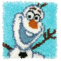 Olaf Disney Frozen Latch Hook Kit 12x12 inches