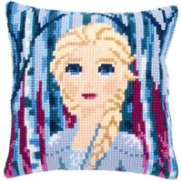Disney Elsa Frozen II chunky cross stitch cushion front kit