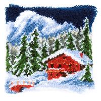 Winter Mountains Latch Hook Cushion Front Kit 40x40cm