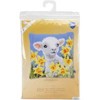 Lamb Chunky Cross Stitch Cushion Front Kit by Vervaco