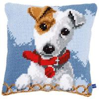 Terrier  Chunky Cross Stitch Cushion Front Kit